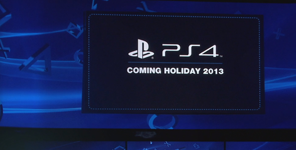 Sony confirms Holiday 2013 release for PlayStation 4