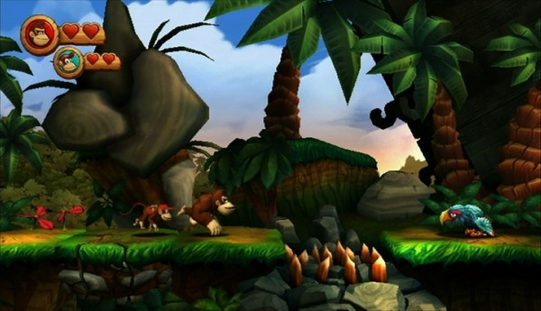 'Donkey Kong Country Returns' again but on the 3DS