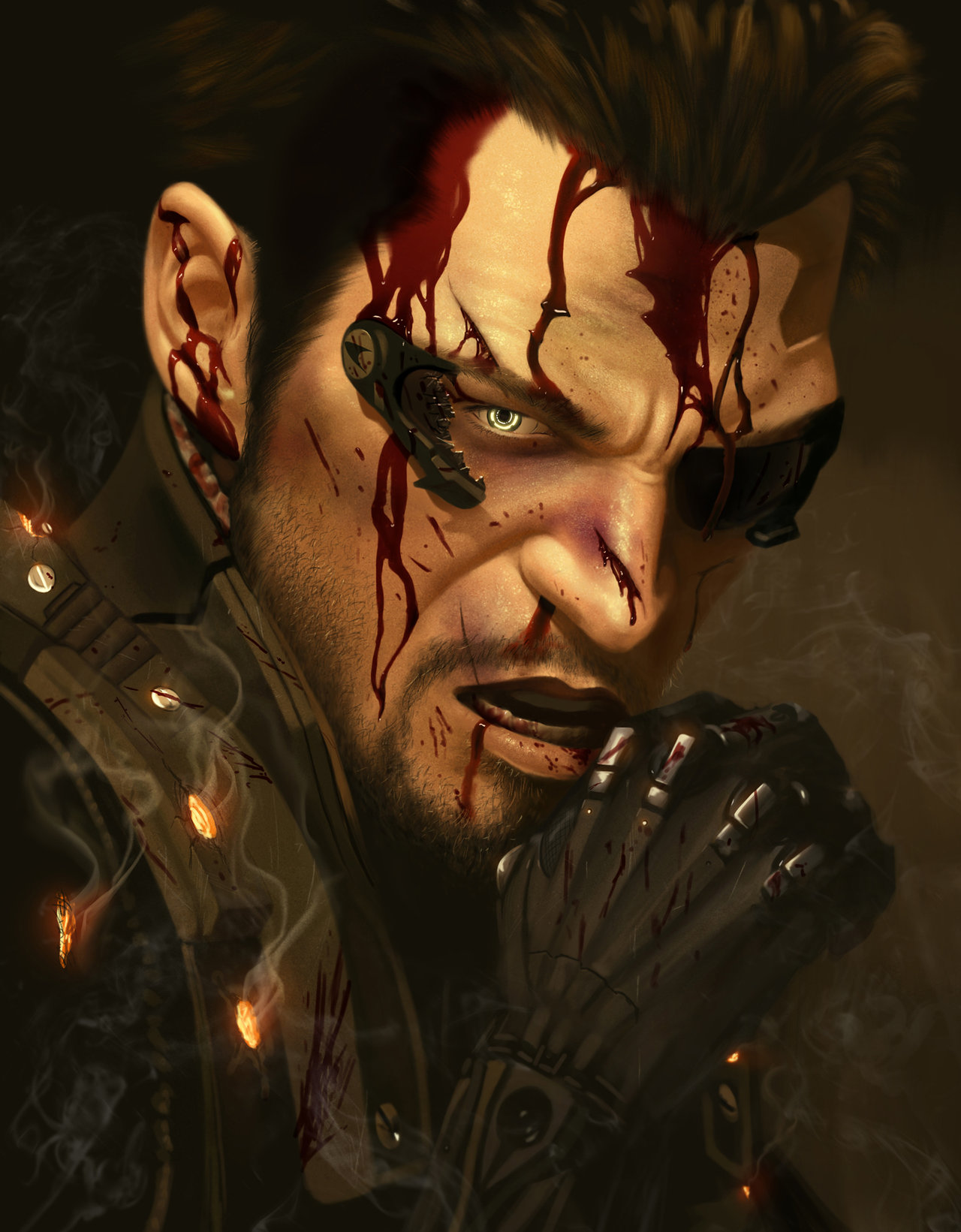 fan art houstin sharp deus ex adam jensen