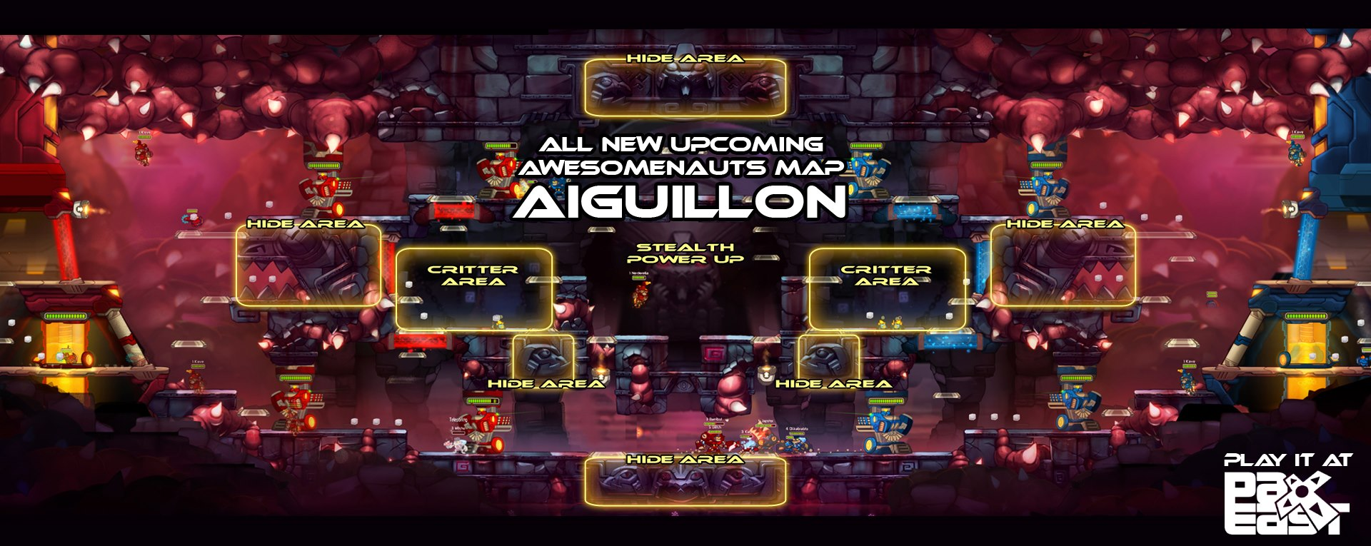 PAX East: Hands on with the new 'Awesomenauts' map Aiguillon