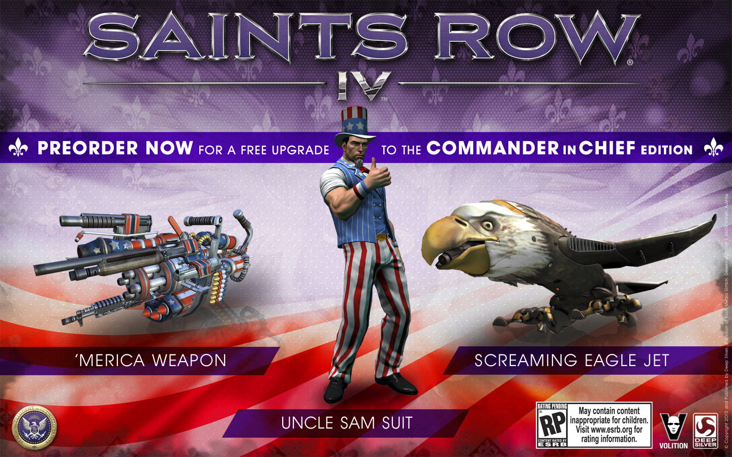 'Saints Row IV' Commander in Chief Edition announced, is awesome