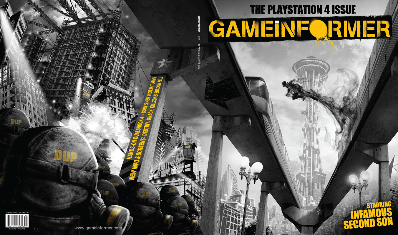 June's Game Informer features over 30 pages on the PS4, 'Infamous: Second Son' highlighted