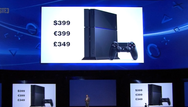 E3: The PS4 will be $399, launching holiday 2013