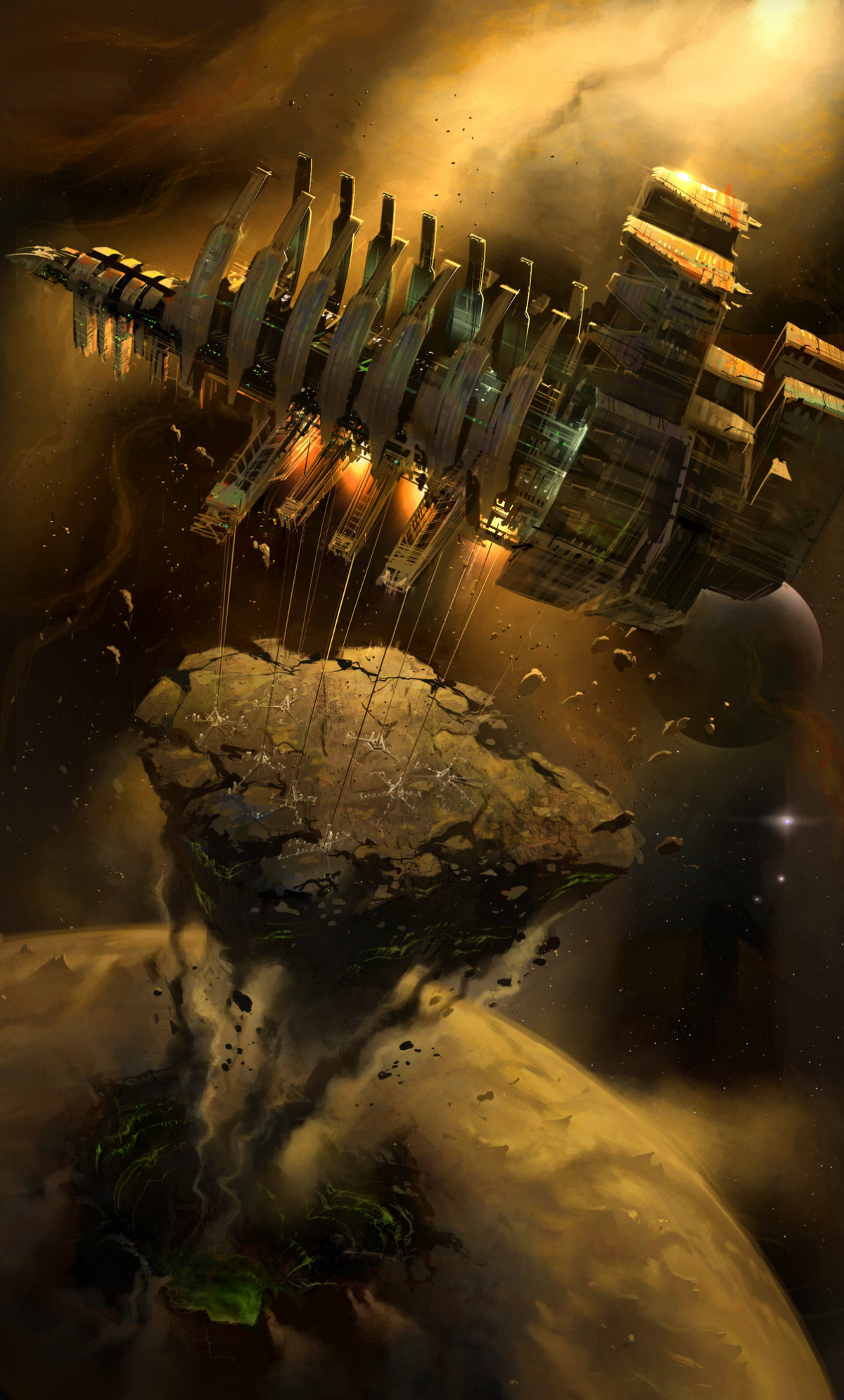 concept art ryan church dead space verticality