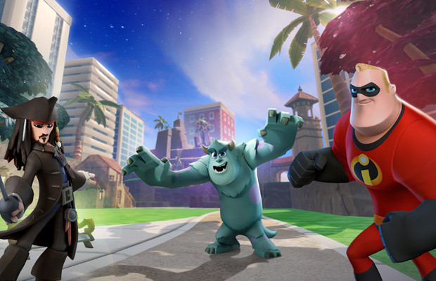 Take a look at Toy Box Combat in 'Disney Infinity'