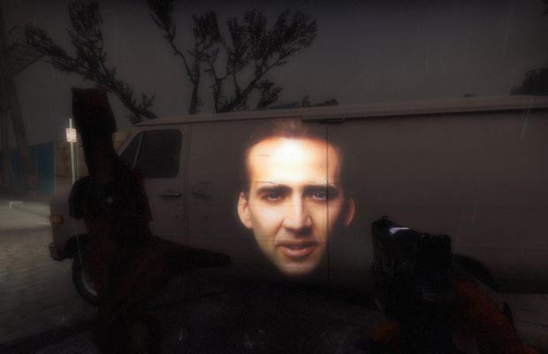 'Left 4 Dead 2' Nicolas Cage flashlight mod is the best thing ever