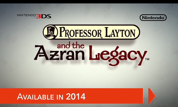 'Professor Layton & The Azran Legacy' coming to 3DS in 2014