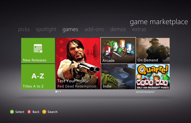 Xbox Live Marketplace renamed Xbox Games Store