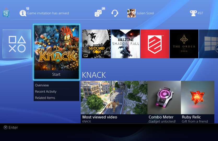 Sony releases new screenshots of Playstation 4's UI
