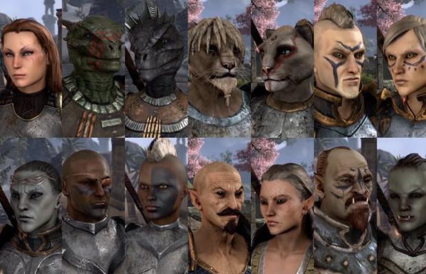 Character creator in 'The Elder Scrolls Online' outlined
