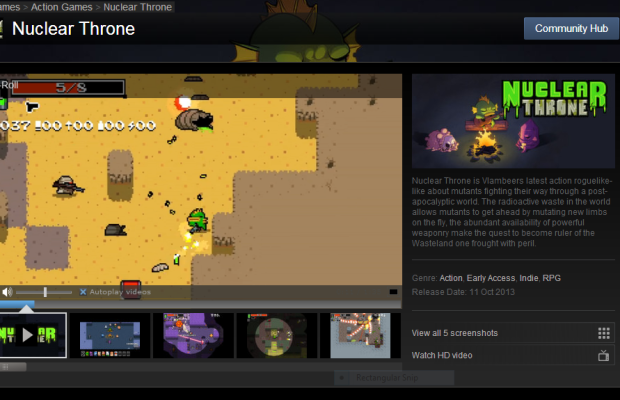 Vlambeer's 'Nuclear Throne' hits Steam Early Access