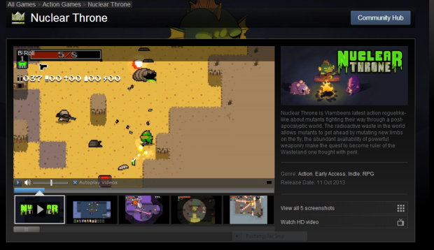 nuclear throne steam page