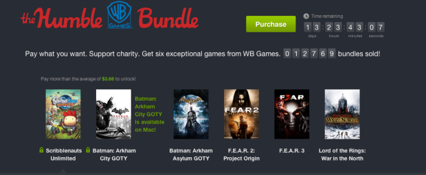 Humble WB Games Bundle includes 'Scribblenauts Unlimited', 'Batman Arkham' titles