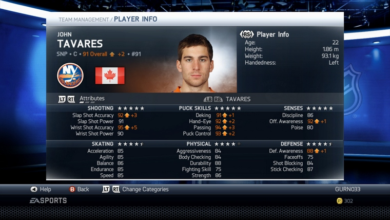 Dynamic Ratings Update in 'NHL 14' Adjusts Over 80 Players