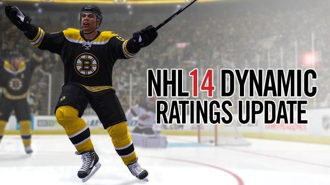 New NHL 14 Dynamic Ratings Update Announced