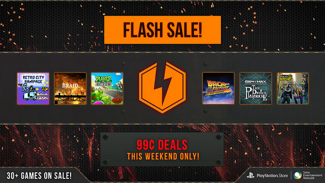 Huge PSN flash sale, over 30 games reduced to 99 cents
